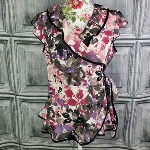 Axcess Floral Wrap top (L)